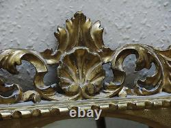 19th century carved gilt wood Florentine framed Oval wall mirror