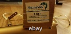 21 House of Troy Brass Wall Mount Art Picture Frame Accent Lamp