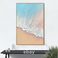 24x36 Gold Frame 100% Oil Hand Painting Ocean Wall Art Living room decor