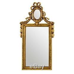 56.5 X 104cm Ornate Wall Mirror Antique Gold Premier Housewares Rectangle