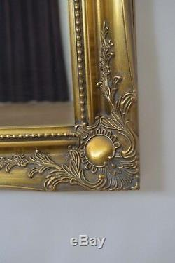 5Ft6x2Ft6 167x76cm Large Gold Ornate Antique Style Wall Mounted Mirror Rectangle