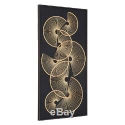 60 X 120cm Modello Metal Fan Framed Wall Art Gold/black