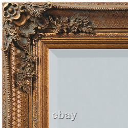 Abbey Large Gold Shabby Chic Vintage Antique Wall Hanging Mirror 31 x 43