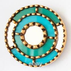 Accent Round Mirror set of 3, Turquoise & White Ornate Wall Mirror set Lachay