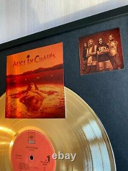 Alice In Chains Dirt 1992 Custom 24k Gold Vinyl Record in Wall Hanging Frame