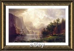 Among The Sierra Nevada Mountains by Albert Bierstadt Framed canvas Wall art