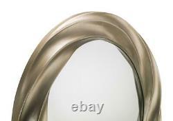Andante Round Silver Swirl Effect Wall Mirror By Julian Bowen