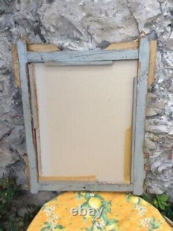 Antique French Gilt Victorian Wall Mirror Wood Plaster 23 X 27 Frame Gold 1800s