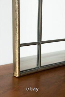 Antique Gold Arched Window Style Mirror Gothic Metal Wall Mounted Home Decor New