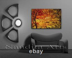 Antique Gold Framed Landscape oil Painting on Canvas 36 wall Art Home Decor