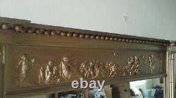 Antique Regency Rectangular Gilt-framed Overmantle Wall Mirror