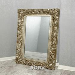 Antique Wall Mirror 90x120cm Gold