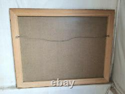 Antique, repro, large, gold, rectangular, wall mirror, hanging, mirror, overmantle
