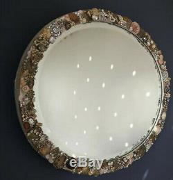 Antique vintage jewellery framed oval wall mirror, elegant chic xmas present