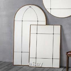 Ariah Large Antique Gold Metal Frame Rustic Rectangle Wall Mirror 37.5 x 27.5