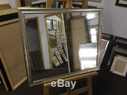 BUY DIRECT LARGE 35mm SHAPED SILVER/GOLD WALL AND OVERMANTLE MIRRORS