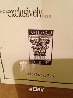Ballard Designs Large Wall Art Floral Oil Painting Gold Frame Artist Signed Gunn