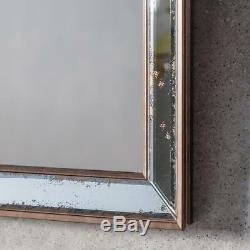 Bambra Set of 4 Antiqued Glass Gold Frame Rectangle Wall Mirrors 39 x 39cm (4pk)