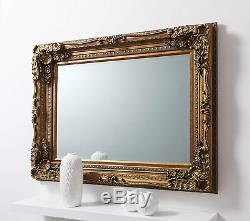 Barcelona Trading Carved Louis Gold Ornate French Frame Wall/Over Mantle Mirror