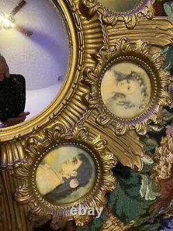 Beautiful 19th Century Cameo Creations Ornate Gold Frame Wall Convex Mirror