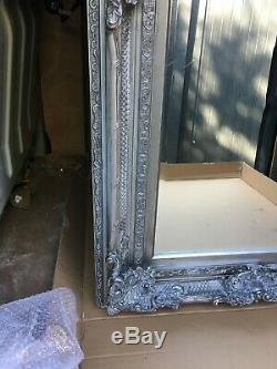 Beautiful Heavy Ornate 4ftx3ft antique silver or gold wall mirror deep framed