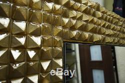 Beautiful MIRROR glass frame pyramids NEW art modern WALL DESIGN UNIQUE product