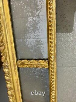 Beautiful Period Distressed Antique Giltwood Framed Wall Mirror 19th C Gold