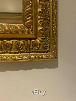 Beautiful Sculptured Ornate Gold Gilded Frame Wall Mirror