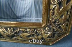 Beautiful Vintage Large Bevelled Wall Mirror with Ornate Frame Shabby Chic