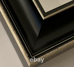 Black Gold Framed Wall Mirror Classic Luxury overmantle bedroom hall 107 x77cm