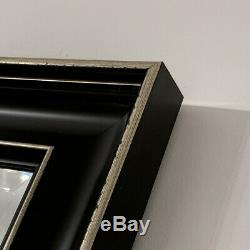 Black Gold Wall Mirror Classic Luxury overmantle bedroom hall 117cm x 92cm