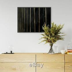 Black and Gold Abstract Wall Art Home Decor Print Poster A4 A3 A2 A1 A0 B1 Frame