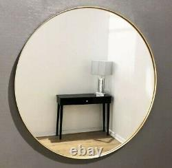 Brand new extra large round gold framed wall mirror 90x90cm