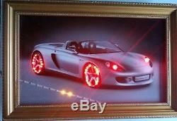 Carrera GT Coup Convertible Framed Wall Art Decor With LED Lights