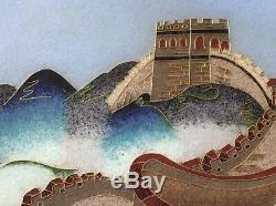 Chinese Painting Cloisonné Sand Art Great Wall Of China Art Gilded Frame
