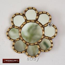 Collection Gold Round Mirror set 4, Accent Wall Sunflower Mirror set Sunflower
