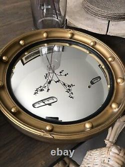 Convex Wall mirror regency style gilt wood