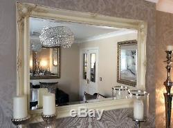 Cream / Ivory Shabby Chic Mirror 3 Wide Frame FREE P&P