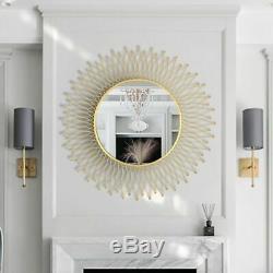 Decorative Mirror Round Entrance Mirror Living Room Background Wall HangingDecor