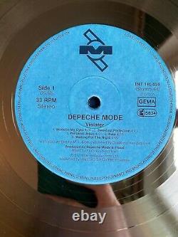 Depeche Mode Violator 1990 Custom 24k Gold Vinyl Record in Wall Hanging Frame