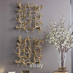 Designer Golden Gymnasts 19 Modern Home Decor Wall Art Uttermost