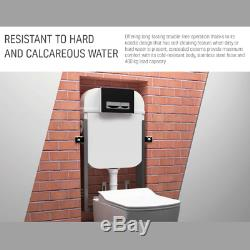 Designer WC Concealed Partition Wall Hung Toilet Cistern Frame Dual Flush Plate