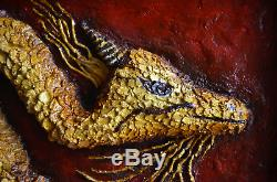 Dragon Panel wall art Wall sculpture Chinese Dragon Feng Shui wall art Gold art