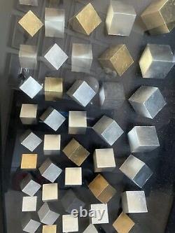 Dwell 3D Metallic Cube Framed Art Hanging Wall Gold Silver Noir Glass Sculpture
