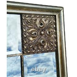 Elegance Distressed Silver Ornate Overmantle Rectangle Wall Mirror 113cm x 83cm
