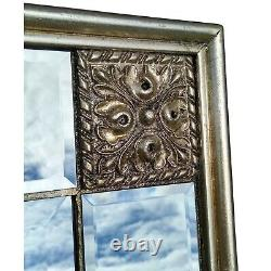 Elegance Silver Frame Distressed Overmantle Rectangle Wall Mirror 113cm x 83cm