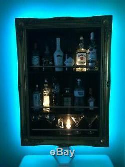 Elegant Gold Swept Frame Wall Bar Home Bar Cocktail Bar