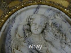 Enrico Braga Perfugium Regibus Gilt Framed Marble Relief Plaque