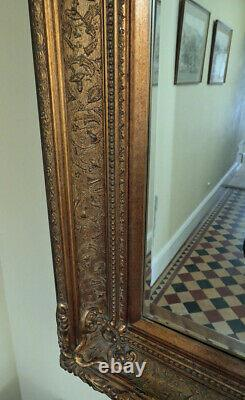 Extra Large Wall Mirror with Ornate Gold Antique Frame