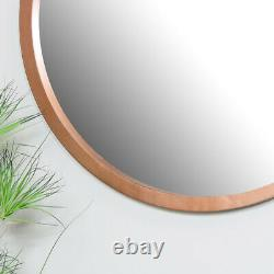 Extra large round copper wall mounted mirror modern contemporary Scandi decor